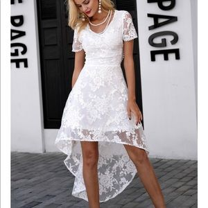 Laced White Dress🆕🔥🔥